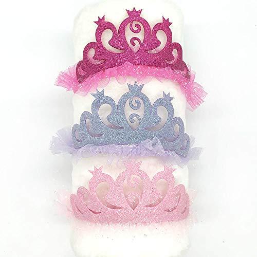 Cerceau à cheveux 3 Pièces Nouveau Mignon Strass Scintillant Couronne Bandeau Filles Cheveux Bande Accessoires Princesse Diadème Enfants Chapeaux Fête