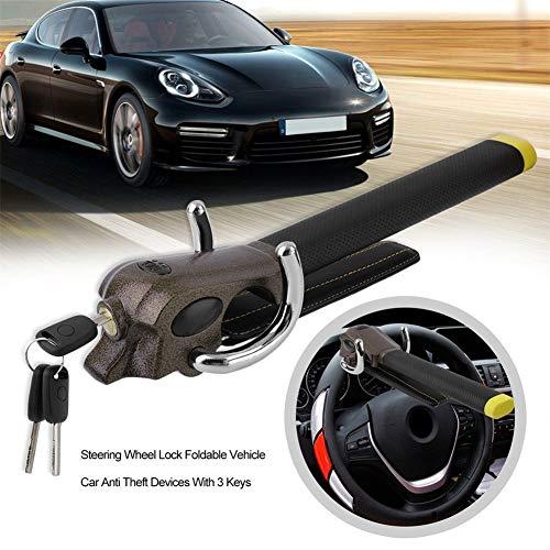 Auto Universal Lenkradkralle, Faltbares Fahrzeug-Auto-Metalllenkrad-Verschluss-Diebstahl-Airbag-Sicherheits-Werkzeug