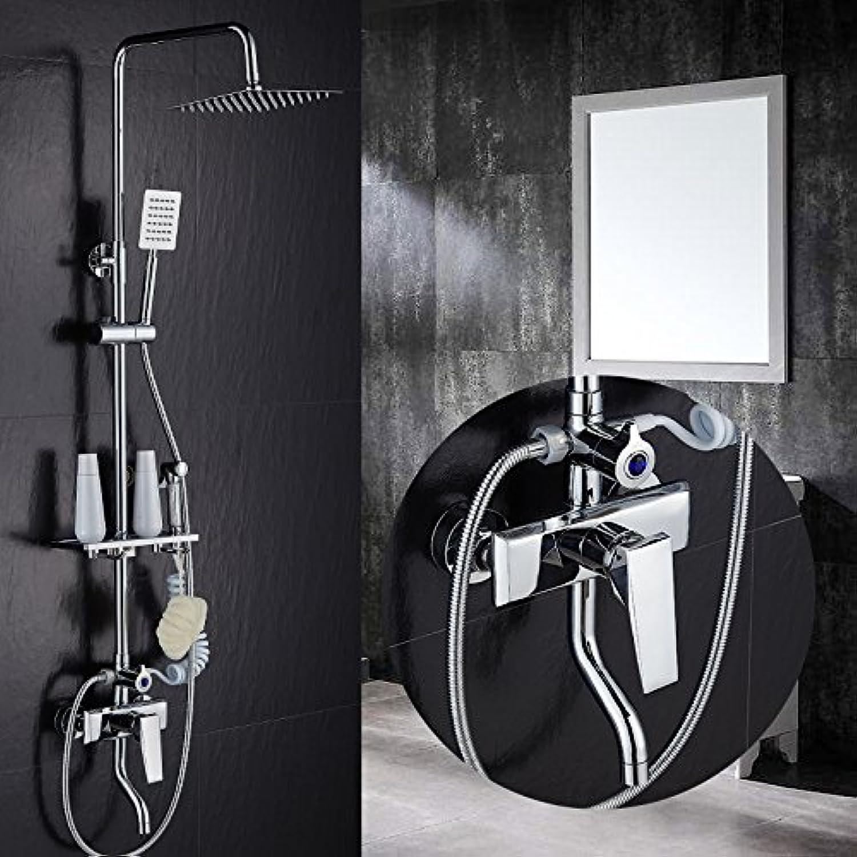 AGECC Beste Wahl Duschbad Set Dusche Set Kupfer Wasserhahn Dusche Wasserhahn Vier Mischventil Aufzug Duschkpfe A