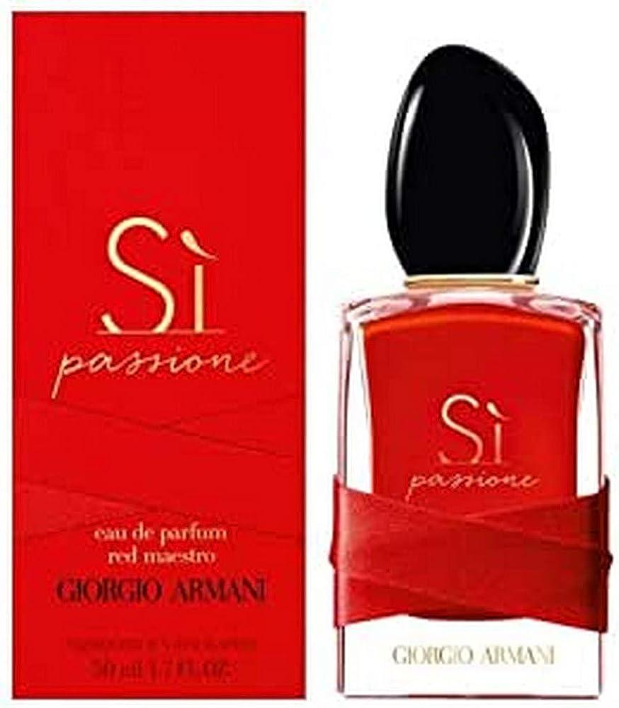Giorgio armani si passione red maestro, eau de parfum,profumo per donna 50 ml, spray 3614272635845