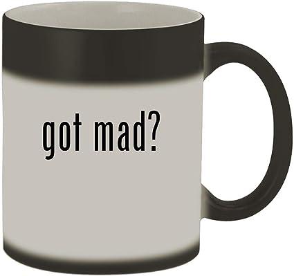 Details about  /One Cat Short Of CRAZY Matte Black Color Changing Magic Mug