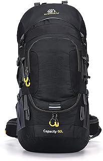 Mochila Montañismo 60L al aire libre impermeable y transpirable Deportes del recorrido del morral que va de excursión bolso de la mochila de la bici con la cubierta impermeable ir de excursión el exte