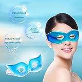 Baost Women Fashion Gel Eye Sleeping Mask Gel Mask Cooling Face Mask Reusable Eye Therapy Mask Facial Ice Mask for Reduce Dark Circles Relieve Fatigue Lessen Eyestrain Random