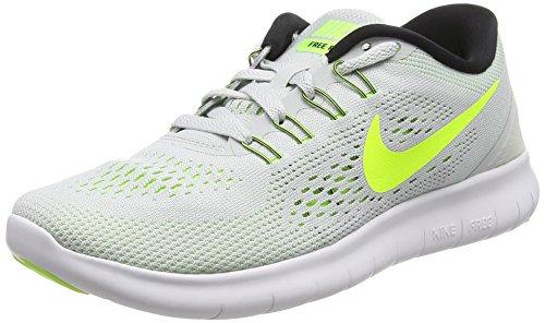 Nike Damen Free RN Laufschuhe, Grau (Pure Platinum/Volt-Black-Wolf Grey), 36.5 EU