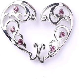 Niome 1 PC Heart Circle Nipplerings Non-Piercing Stainless Steel Screw Adjustable Fake Nipple Ring Body Jewelry