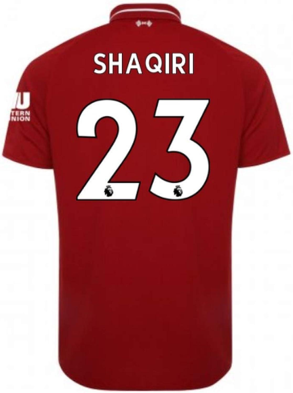 2018-2019 Liverpool Home Football Soccer T-Shirt (Xherdan Shaqiri 23)Kids