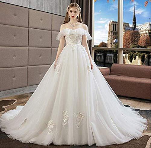BEAUTIFUI-BRIDE Vrouw Bruidsjurk, Prinses Droom Kant Bruid Trailing Bruidsjurk Hoge Taille Qi Zwangere Vrouwen Bruiloft Feestjurk