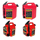 SureCan 5 Gallon Gas Can (2 Pack) & 2.2 Gallon Gas Can (2 Pack)