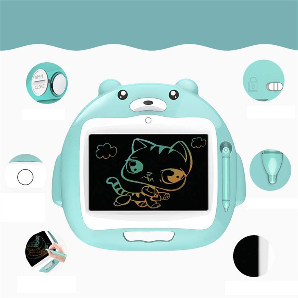 MAODATOU Drawing Board eWriter 10 Inches LCD Tablet Baby Graffiti Board Painting Small Blackboard Writing Board for Kids and Adults at Home,School and Office Color : Blue, Size : 8.5 inches