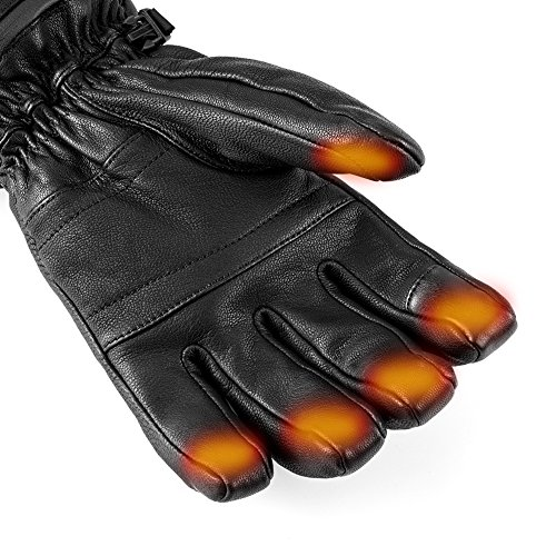 Savior Heated Gloves for Men Women, Electric Heated Gloves,Heated Ski Gloves (L)