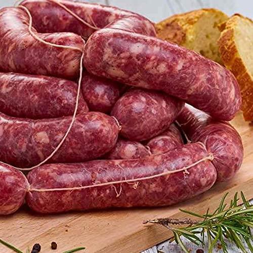 salsiccia suino umbra, morbida fresca 600 gr, macinatura media, spalmabile, prodotto tipico Italia