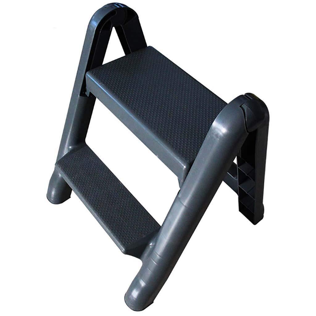 Escalera plegable de 2 peldaños, escalera de plástico, portátil, ligera, multifunción, antideslizante, para cocina en casa: Amazon.es: Bricolaje y herramientas