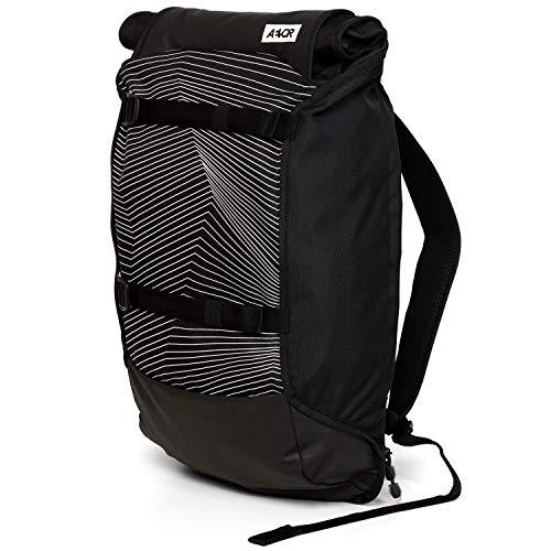 AEVOR Trip Pack - erweiterbarer Rucksack, ergonomisch, Laptopfach, wasserabweisend - Fineline Black