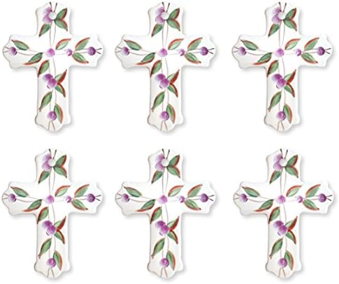 Precious Home Collection Leaf Decoation Wall Cross 4 1 2 H 80932 By ACK product image