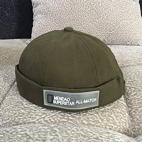 KONGZIR Top-Qualität. Vintage Dome Hat Mens Solid Color Velvet Mützen for Männer...