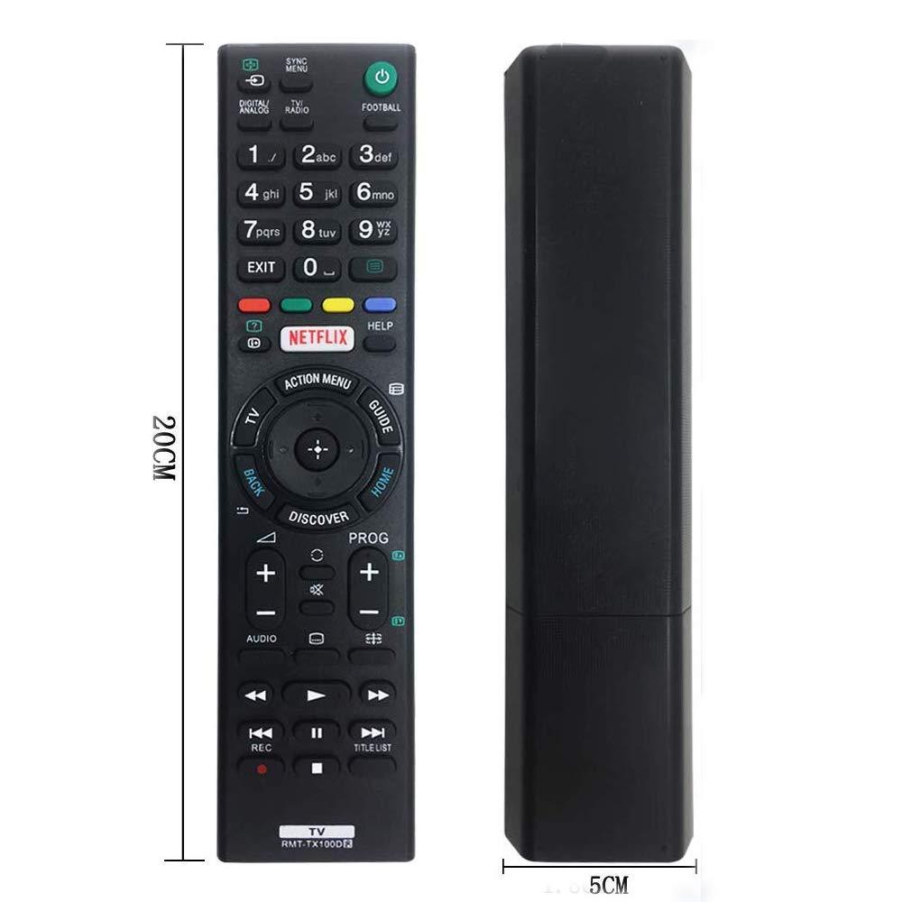 Repuesto RMT-TX100D Mando para Sony bravia TV fit para RMT-TX200E RMT-TX300E Control Remoto para Sony bravia: Amazon.es: Electrónica