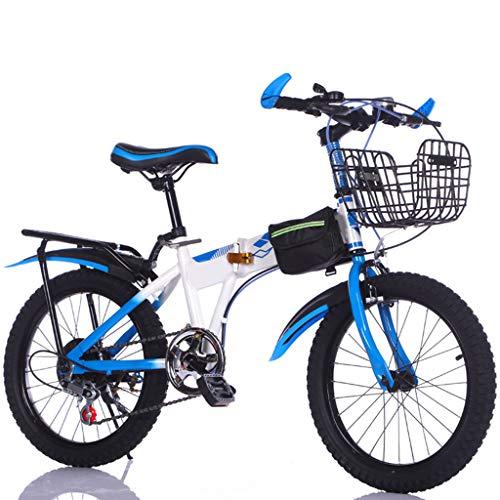 ANLW Klapprad für Kids18 Zoll 7-Gang-Fahrrad Adjustable Seat Jugend Fahrrad paßt sie an jedem Straßenzustand Fahrrad-Gebirgs,Blau