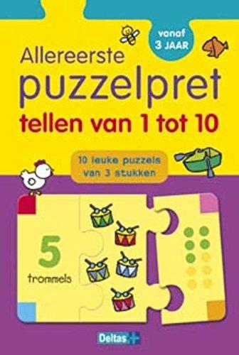 Tellen van 1 tot 10: 10 leuke puzzels van 3 stukken