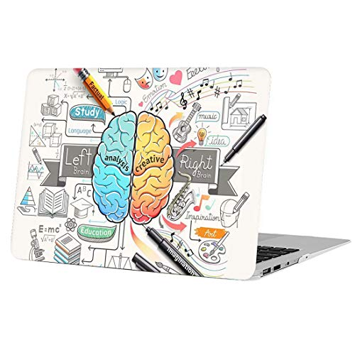 AUSMIX MacBook Pro 15 Inch Case (Non-Retina Display), Folio Hard Plastic Frosted Hand-feel Anti-scratch Shockproof Shell Unique Cover ONLY for Pro 15 with CD-ROM (Model:A1286) - Cartoon Brain