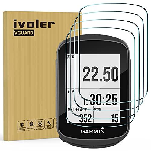 ivoler 4 Unidades Protector de Pantalla para Garmin Edge 130 / Garmin Edge 130 Plus, Cristal Vidrio Templado Premium, 9H Dureza, Antiarañazos, Sin Burbujas