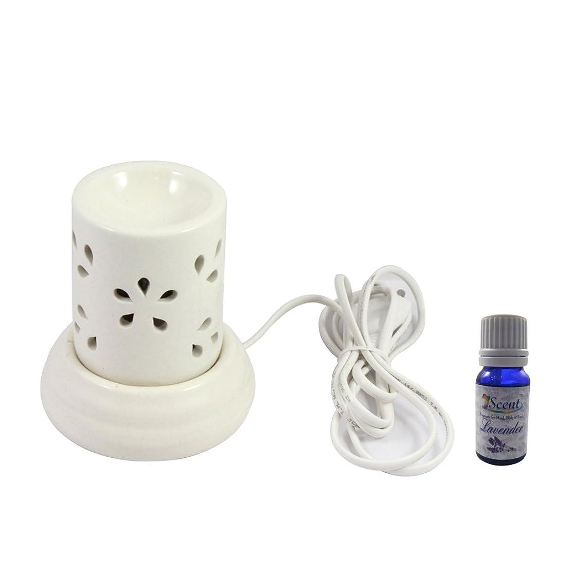 お祝いアノイ願う家庭装飾定期的に使用する汚染されていない手作りセラミックエスニック電気アロマディフューザーオイルバーナージャスミンフレグランスオイル|良質白い色の電気アロマテラピー香油暖かい数量1