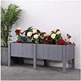 Z-DYQ Raised Garden Bed Wooden elevated garden bed for planting flowers, natural cedar wood frame, with flower bed, easy to assemble (Color : F, Size : 80×40cm/31.5×15.74in)
