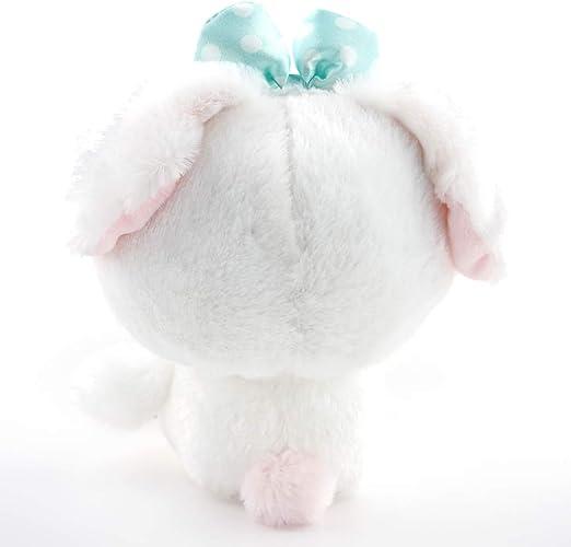 701910 White Sugar Dog Cotton Candies Sugar Ribbon Plush 7.5