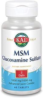 Kal MSM Glucosamine Sulfate, 60 Tabs