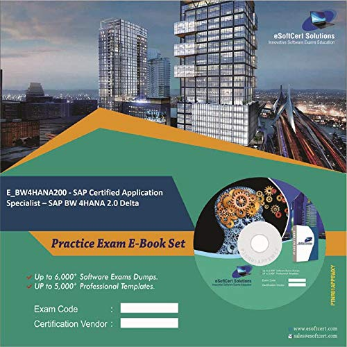 E_BW4HANA200 - SAP Certified Application Specialist – SAP BW 4HANA 2.0 Delta Complete Exam Video Learning Solution Set (DVD)