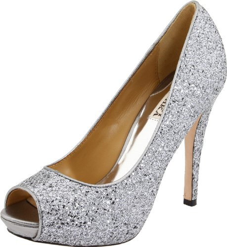 Big Sale Badgley Mischka Women's Humbie II Pump,Smoke Glitter,5.5 M US