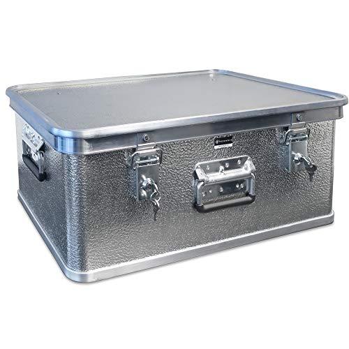 Alubox mit Deckel abschließbar - Alukiste Hemmdal PRO - Alu Box (42 L) groß - Profi Transportkiste - Transportbox Made in Germany