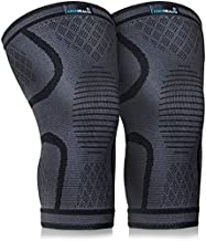 Keenhealth Compression Knee Brace (2Pack) - Knee Sleeve Pain Relief - for Arthritis, ACL and MCL - Support for Gym, Running, Working Out and Sports - for Men and Women (Black, M)