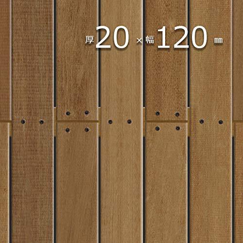 ウッドデッキ 「ウリン (ボルネオ・アイアンウッド) 」 厚20mm×幅120mm×長2500mm 無塗装 プレミアムグレー...