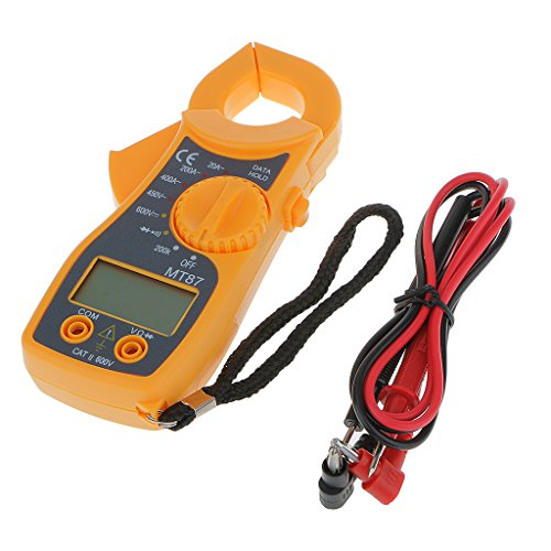 Generic Portable MT87 Digital Multimeter LCD Clamp AC DC Voltage Current AMP OHM Tester W/ Test Leads