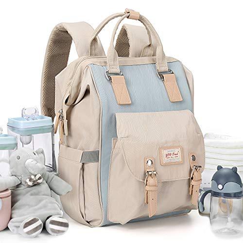 Mochila grande para cambiar pañales,mochila bebe para cambiar pañales para Cosas para cochecito de bebé con bolsillos aislados Correas para cochecito Durable para el cuidado del bebé,diseño abierto
