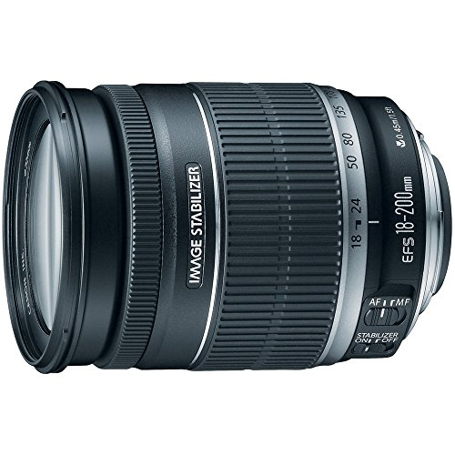 Canon EF-S 18-200mm f/3.5-5.6 IS Standard Zoom Lens for Canon DSLR Cameras (Renewed)