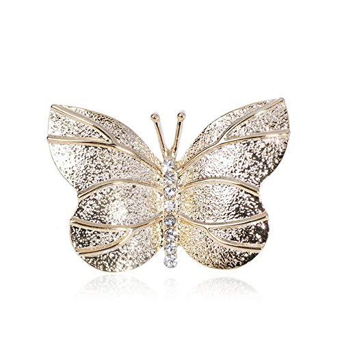 U/N Hermosos broches de Mariposa de Insectos, joyería de Cristal para Mujeres, niña, Falda, Bufanda, suéter, Abrigo, Ropa, Moda
