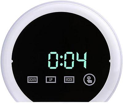 Reloj despertador con espejo que cambia de color, reloj despertador RGB, reloj de escritorio