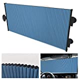 NeatiEase Retractable Double Layer Honeycomb Sun Shade Windshield Cover for Cars with Strong Suction Cup 25.6'x 56.7' Max Size