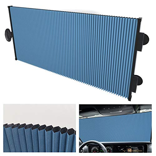 Retractable Double Layer Honeycomb Sun Shade Windshield Cover for Cars with...