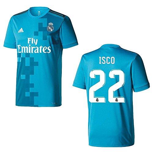 adidas Real Madrid Trikot 3rd Kinder 2018 - ISCO 22, Größe:164