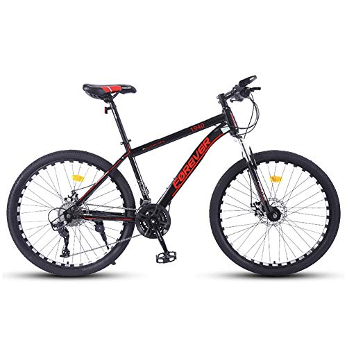 LIUCHUNYANSH Mountain Bike Bicicleta para Joven Las Bicicletas MTB MTB Adulto Camino de la Bicicleta de los Hombres de 24 Velocidad 26 Pulgadas Llantas de Las Mujeres por (Color : Red)