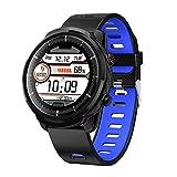ZZJ Smart Watch, Full Touch Wasserdicht für mehr Sport-Modi Smart Watch Sports Clock-Puls-Monitor Smart Watch für IOS Android Phone,C