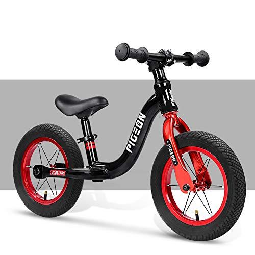 WGXQY Jongens Balance Bike voor 2, 3, 4,5,6 Jaar Oud, 12'' Geen Pedaal Peuter Fiets, Wandelen Trainingsfiets met Verstelbare Stuur En Stoel Outdoor Training
