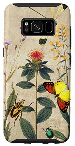 Galaxy S8 Wildflowers Thistles Butterflies and Beetles Case