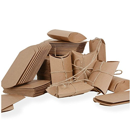 100 × Cajas, Papel Kraft, para Guardar Bombones, Galletas