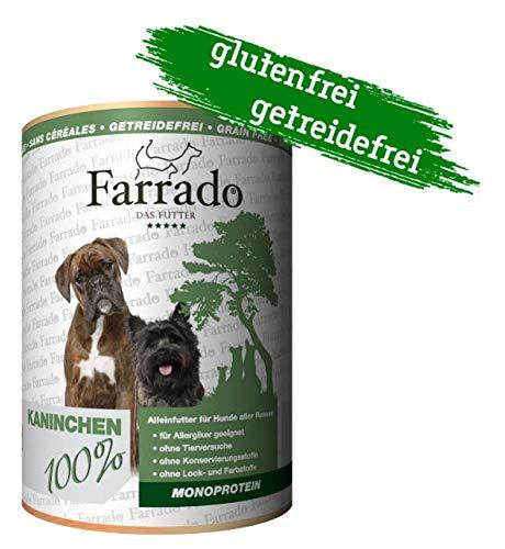 Farrado Premium Nassfutter getreidefrei für Ihren Hund – mit Pferd, Lachs, Kaninchen oder Ente (Kaninchen)