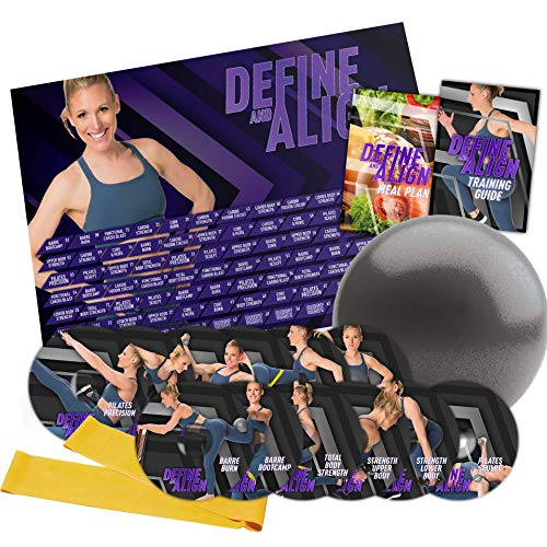 Define & Align: 90 Day Workout Program with 12 Exercise Videos + Training Calendar, Training Guide and Nutrition Plan