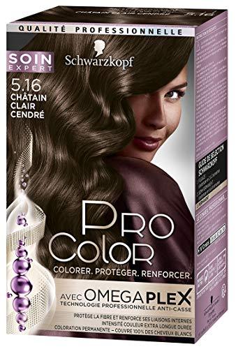 Schwarzkopf - Pro Color - Coloration Permanente Cheveux - Anti-Casse - Châtain Clair Cendré 5.16