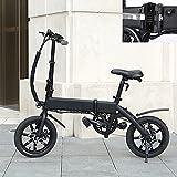 Bicicleta electrica Plegable Velocidad máxima 25 KM/H Bicicletas Voltaje/Capacidad 36V / 10AH Ebike Endurance 40-45KM, Disco de Freno Adecuado para una Altura Inferior a 178 cm.